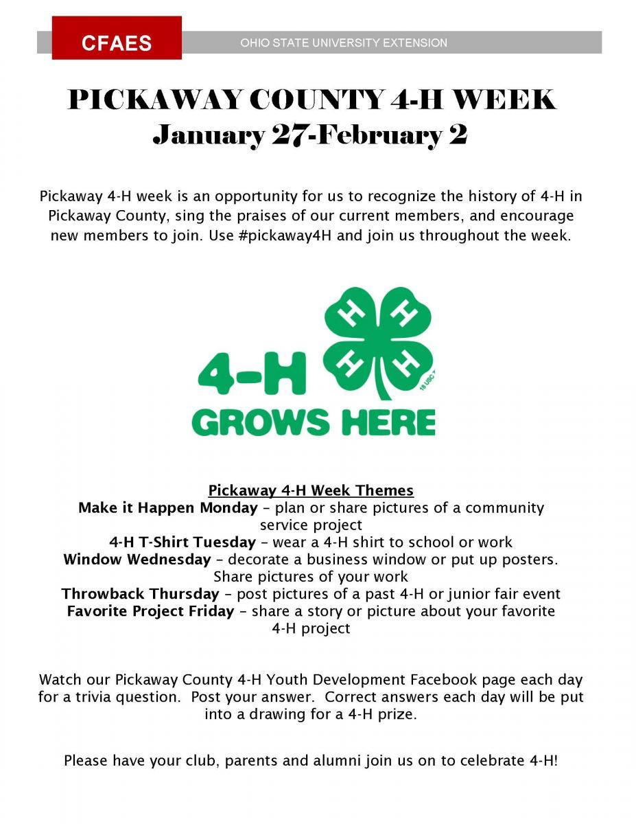 Pickaway 4-H Week