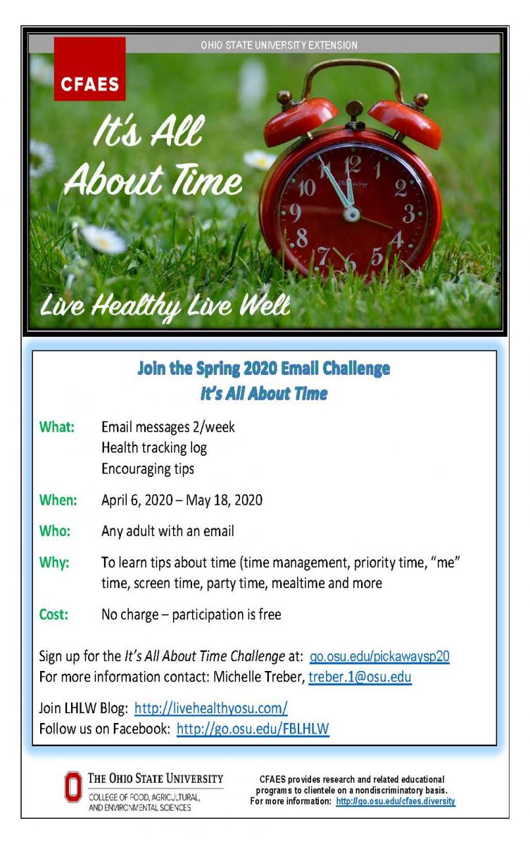 Spring Wellness Challenge Flyer