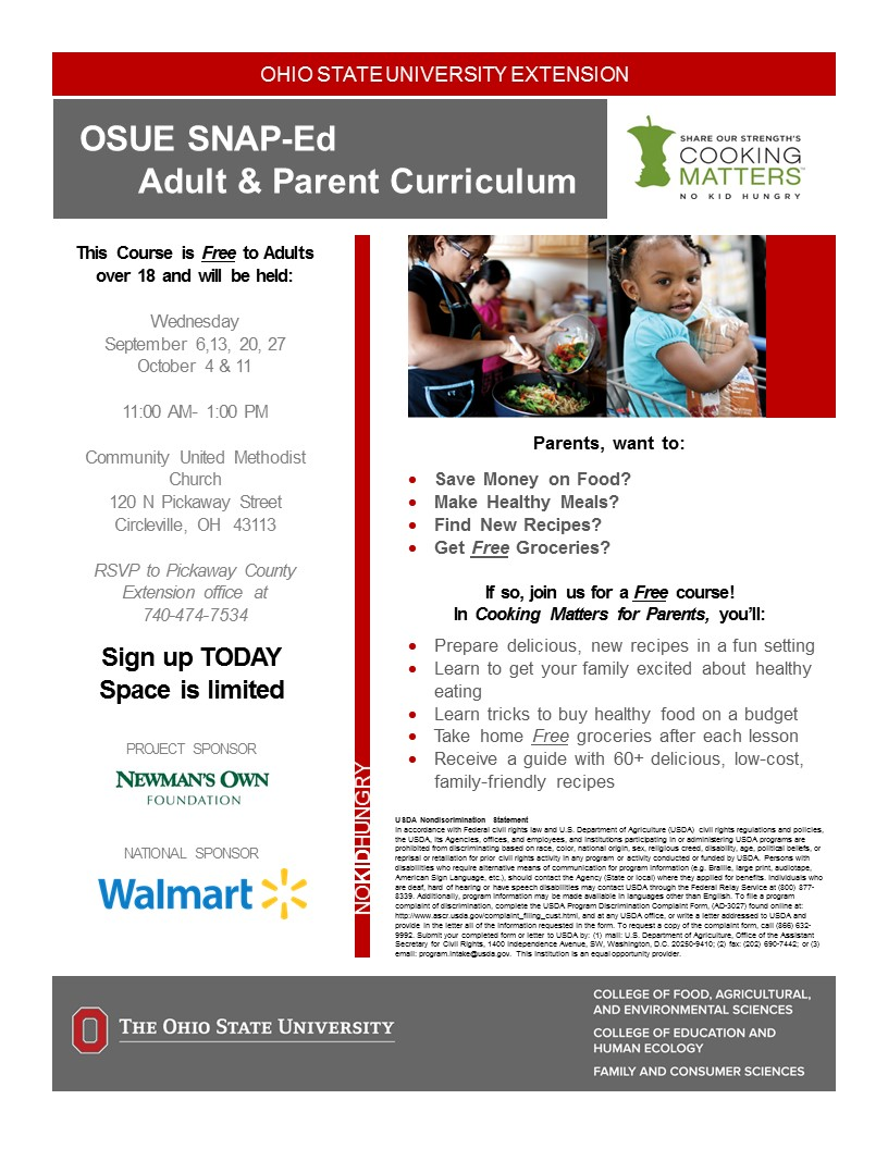 Fall Pickaway Cooking Matters Course